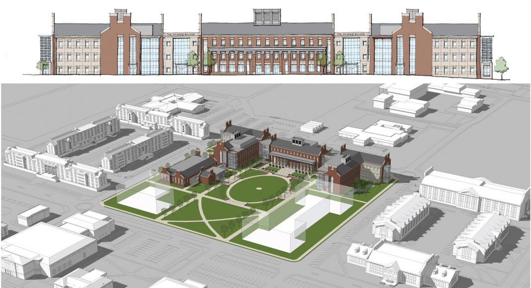 Architect's rendering of new laboratory science building