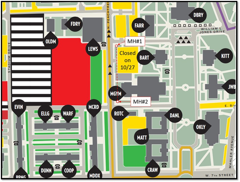 tn tech campus map Parking Lot Behind Bartoo Hall Temporarily Closed This Friday tn tech campus map