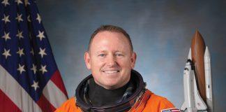 Astronaut Barry Wilmore in his NASA space suit